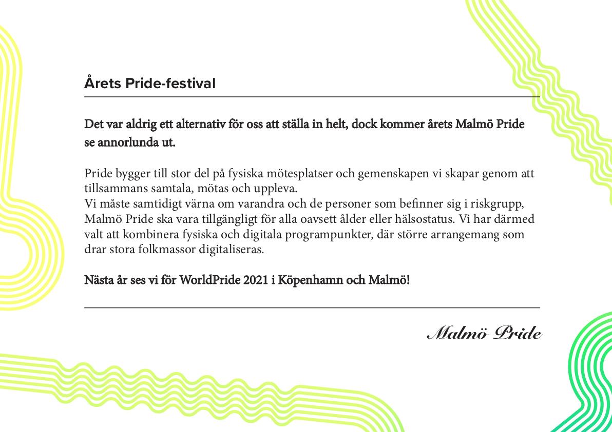 Malmö Pride program 2020 sida 2