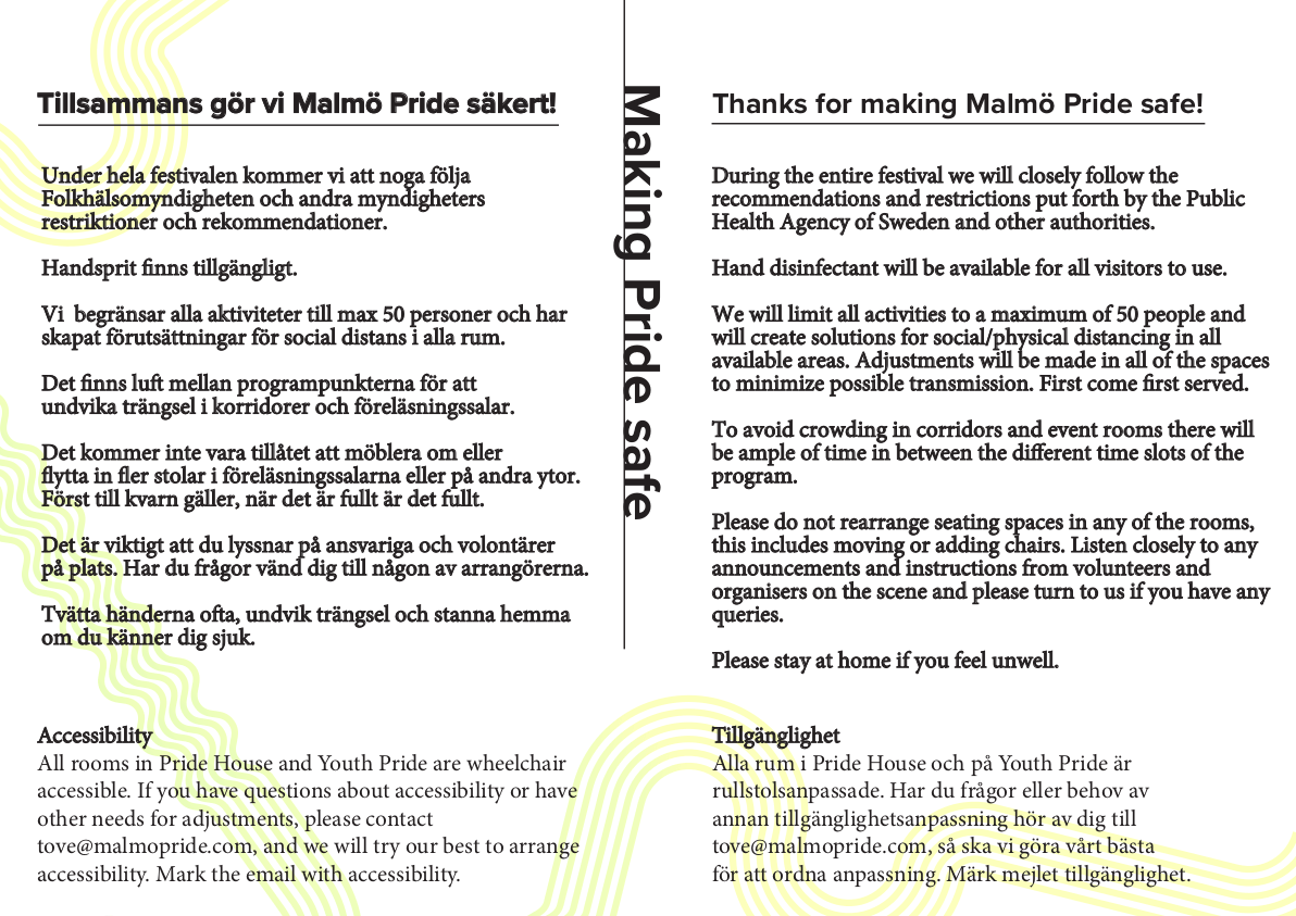 Malmö Pride program sida 3